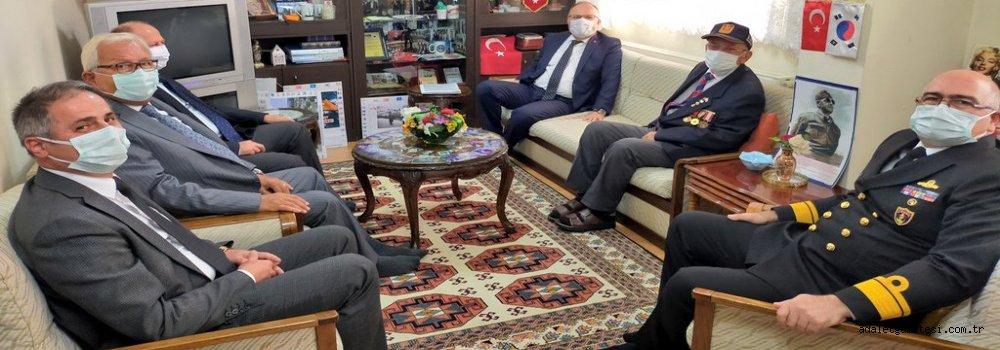Vali Tutulmaz'dan Kore Gazisine Sürpriz Ziyaret